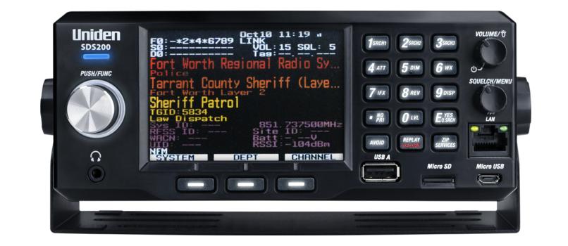 Uniden SDS200 TrunkTracker X Base/Mobile Scanner