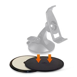<ul> <li>Adhesive Dashboard Disk for On-Dash Mounting (Small)  <li>The Disc adheres to the dashboard, and your suction cup mount adheres to the disc. <li>2 Pack <li>Comparable to Garmin Part # 010-10646-01</li> </ul>
