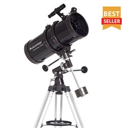 "<div class=""review"">Customer Reviews | <a href=""/details/147532/celestron-21049.html#review_PowerSeeker_127EQ"" class=""star4_5"">(4)</a></div> <br/> Reflector Telescope<br/> <ul> <li><span class=""redbold"">5.0 Inch Aperture (127mm)</span></li> <li>Aluminum Optical Coatings</li> <li><span class=""bluebold"">300x Maximum Magnification</span></li> <li>Focal Length: 1000mm, f/7.87 Focal Ratio</li> <li><span class=""blackbold"">5x24 Finderscope</span></li> <li>Aluminum Tripod</li> <li><span class=""blackbold"">Quick and easy no-tool setup</span></li> <li><span class=""greenbold"">German Equatorial Mount</span></li> <li>Sku: 21049</li> </ul>"
