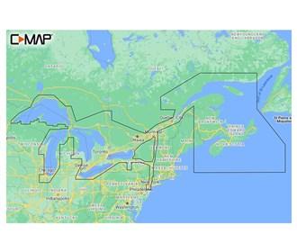 c map m na y201 ms reveal great lakes to nova scotia coastal chart