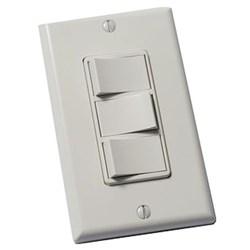 """Product # FV-WCSW31-W <br /> <ul>   <li><span class=""""blackbold"""">3 Function On/Off Control Switch</span></li>   <li>Stylish Decorator Design</li>   <li>Fits Single-Gang Box</li>   <li>Commercial Grade</li>     <li>Includes Matching Wall Plate</li> </ul>"""