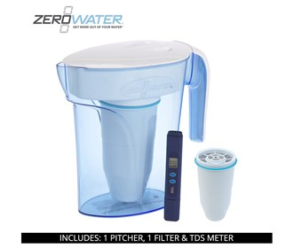 zero water 7 cup ready pour pitcher bundle with single pack filter