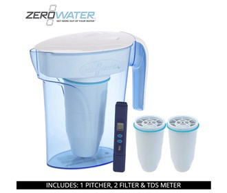zero water 7 cup ready pour pitcher bundle with 2 pack filter