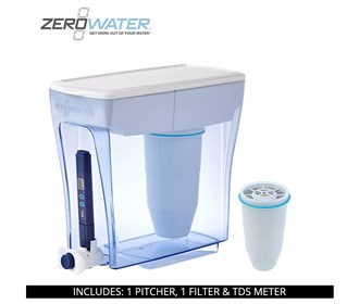 zero water 20 cup ready pour pitcher bundle with single pack filter