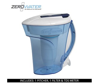 zerowater 10 cup ready pour water filter pitcher zd 010rp