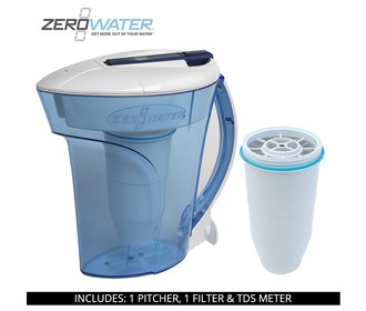 zero water 10 cup ready pour pitcher bundle with single pack filter