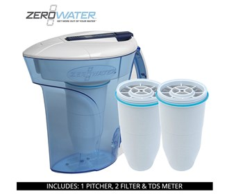 zero water 10 cup ready pour pitcher bundle with 2 pack filter