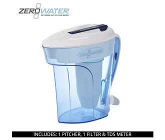 zerowater 12 cup ready pour water filter pitcher zd 012rp