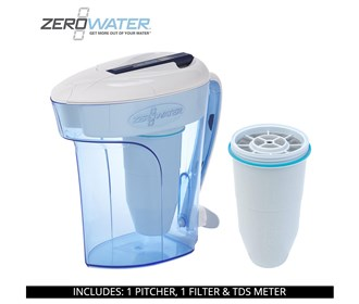 zero water 12 cup ready pour pitcher bundle with single pack filter
