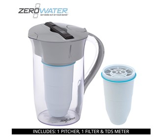 zero water 8 cup round pitcher bundle with single pack filter