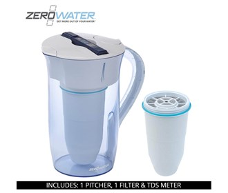 zero water 10 cup round pitcher bundle with single pack filter