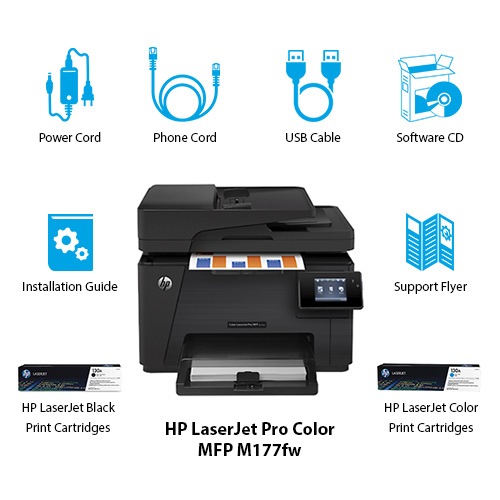 HP Business Printer color laserjet pro mfp m177fw