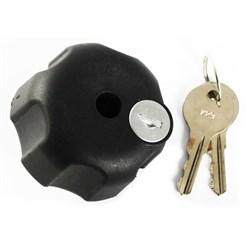 """Product # RAM-KNOB3LU <ul> <li><span Class=""""blackbold"""">Locking Knob</span></li> <li>1"""" Rubber Ball """"B"""" Size</li> <li>1/4"""" - 20 Brass Hole</li> <li>Powder Coated Marine Grade Aluminum Material</li> <li>Ideal for B Size Arms</li> </ul>"""