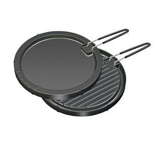 magma two sided round non stick griddle