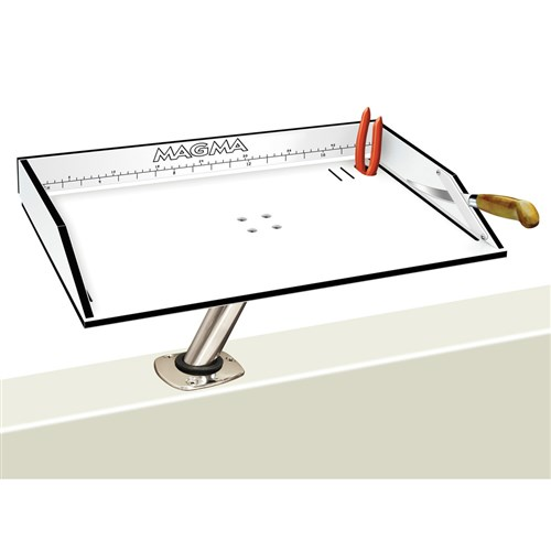 magma bait filet mate table with levelock 20 Inch mount white black
