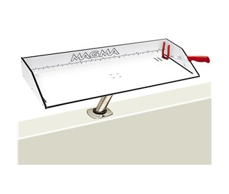 magma bait filet mate table with levelock 31 inch mount white black