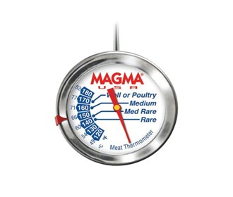 magma gourmet meat thermometer stainless steel
