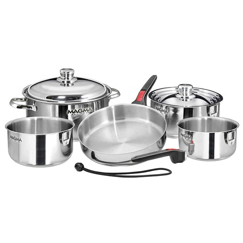 magma professional series 10 piece gourmet nesting induction cookware