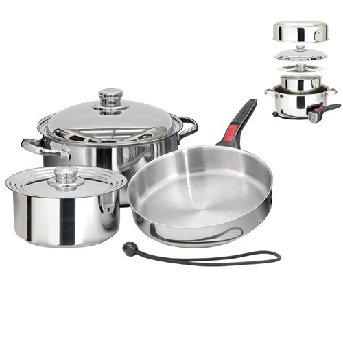 magma professional series 7 piece gourmet nesting induction cookware