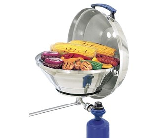 magma marine kettle gas grill with hinged lid 15inch