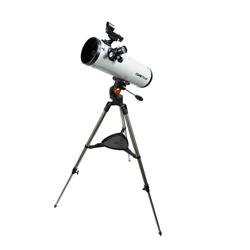 """<ul> <li><span class=""""redbold"""">4.49 Inch Aperture (114mm)</span></li> <li>Parabolic Mirrors</li> <li><span class=""""bluebold"""">269x Maximum Magnification</span></li> <li>Focal Length: 450mm, f/3.95 Focal Ratio</li> <li><span class=""""blackbold"""">StarPointer Red Dot Finderscope</span></li> <li>Stainless Steel Tripod</li> <li><span class=""""greenbold"""">Alt-azimuth Mount With Panning Handle</span></li> <li>Sku: 21079</li> </ul>"""