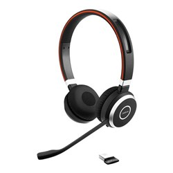 "Product# 6599-823-309  <ul> <li><span class=""blackbold"">Stereo</span> Headset Made For Voice &amp; Music</li>  <li>Optimized for<span class=""redbold""> MS Lync</span> w/ <span class=""bluebold"">Bluetooth </span> Connectivity</li>  <li>Passive Noise Canceling Speakers w/<span class=""bluebold""> Leatherette Cushions</span></li>  <li>Noise Canceling Microphone</li> <li>Call Controls w/ Mute Built into Headset</li> <li>Jabra Xpress Compatible</li> <li><span class=""redbold"">Integrated Busy Light</span></li> <li><span class=""bluebold"">Discrete Boom Arm</span></li> <li>Tap-to-Connect w/ NFC</li> <li>Multi-Device Connectivity</li> <li><span class=""blackbold"">30 Meter/100 Feet of Wireless Freedom</span></li> <li>Up to 10 Hours Battery Life</li> <li>Voice Controls</li> <li>Connects to PC, Mobile &amp; Tablet via <span class=""bluebold"">Bluetooth</span></li> </ul>"
