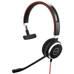"Product# 6393-823-109   <ul> <li><span class=""blackbold"">Mono</span> Headset Made For Voice &amp; Music</li> <li>Optimized for <span class=""redbold"">MS Lync</span> w/ Built-In 3.5mm Jack &amp; USB Adapter</li> <li>Passive Noise Canceling Speakers w/<span class=""bluebold""> Leatherette Cushions</span></li> <li>Noise Canceling Microphone</li> <li>In-Line Call Controls w/ Mute</li> <li>Jabra Xpress Compatible</li> <li><span class=""redbold"">Integrated Busy Light</span></li> <li><span class=""bluebold"">Discrete Boom Arm</span></li> <li>Connects to PC, Mobile &amp; Tablet via USB or 3.5mm Jack</li> </ul>"