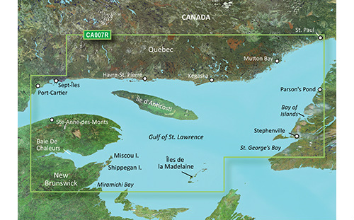 garmin bluechart g3 vision vca007r les mechins to st georges bay
