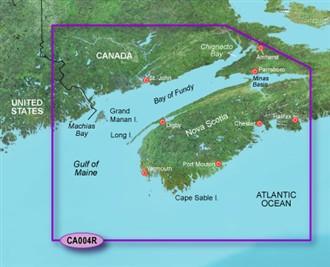 Bluechart g2 vision VCA004R Bay of Fundy