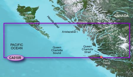 Bluechart g2 vision VCA010R Hecate Strait South