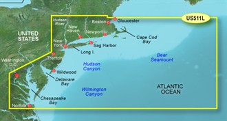 Bluechart g2 vision VUS511L Boston Atlantic City