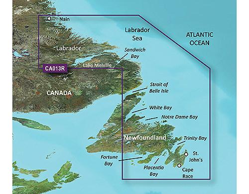 garmin bluechart g3 vision vca013r labrador coast