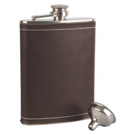 coleman flask leather 8 oz tailgater