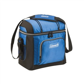 coleman soft cooler blue 16
