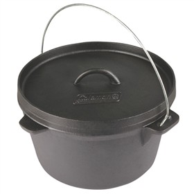 coleman cable dutch oven cast iron