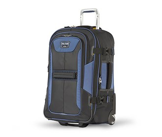travelpro 22 inch expandable rollaboard black navy