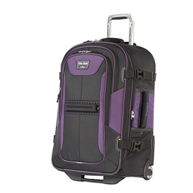 travelpro 25 inch expandable rollaboard black purple