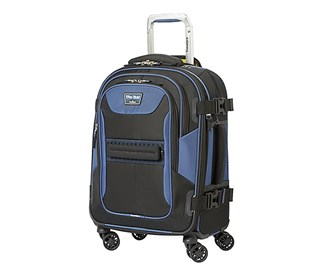 travelpro 21 inch expandable spinner black navy