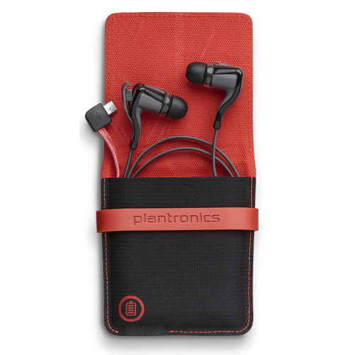 plantronics backbeat go 2 black with case