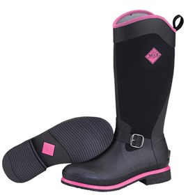 the muck boot company womens reign tall black hot pink