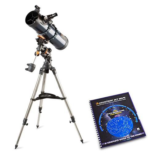celestron astromaster 130eq w/ motor drive and skymaps