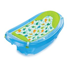 summer infant newborn to toddler baby bath blue