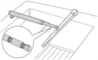 raymarine pushrod extension for tiller pilots d003