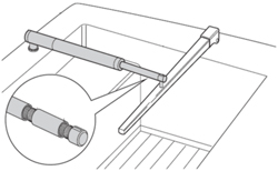 "Product #  D005 <br /> <ul> <li>3"" Pushrod Extension for Tiller Pilots</li> <li>Black & Machined Aluminium Finish</li> <li>Extends The Length Of Tiller Pilot</li> </ul>"