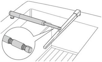 raymarine pushrod extension for tiller pilots d005