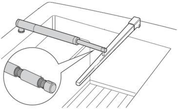 raymarine pushrod extension for tiller pilots d006