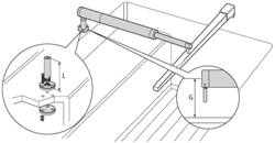 "Product #  D030  <br /> <ul> <li>3.5"" Pedestal Socket for Tiller Pilots</li> <li>Allows to Mount Horizontally</li> </ul>"