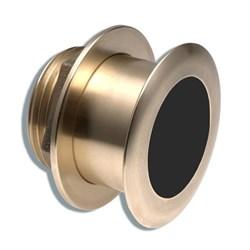 """Product #  A102137 <br /> <ul> <li>0° Tilted Element Transducer</li> <li>Dual Frequency 50/200 kHz</li> <li><span class=""""bluebold"""">Power 1 kW RMS</span></li> <li>Suitable w/ Wood & Fiberglass</li> <li>Depth &amp; Temperature Transducer</li> </ul>"""