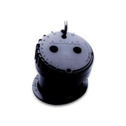 """Product #  E26001-PZ <br /> <ul> <li>In-Hull Transducer</li> <li>Frequency 200 kHz</li> <li>Suitable w/ fiberglass</li> <li><span class=""""bluebold"""">Adjustable Deadrise Angle Up to 22°</span></li> <li>Depth Transducer</li> <li>Includes 30ft Cable</li> </ul>"""