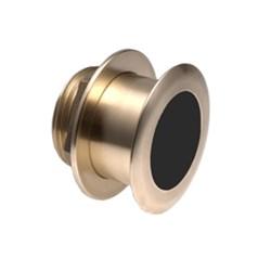"""Product #  A102113 <br /> <ul> <li>20° Tilted Element Transducer </li> <li>Dual Frequency 50/200 kHz</li> <li><span class=""""bluebold"""">Power 1 kW RMS</span></li> <li>Suitable w/ Wood & Fiberglass</li> <li>Depth & Temperature Transducer</li> </ul>"""